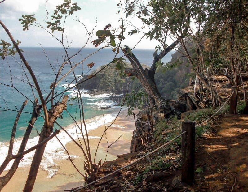 Sancho beach viewpoint - FN - Brazil stock photography