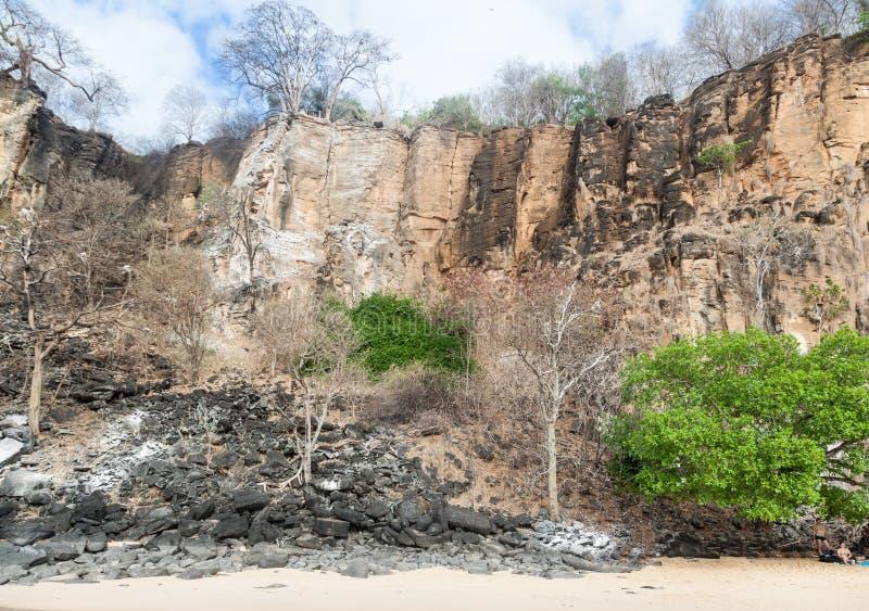 Sancho plaży Fernando De Noronha wyspa fotografia royalty free