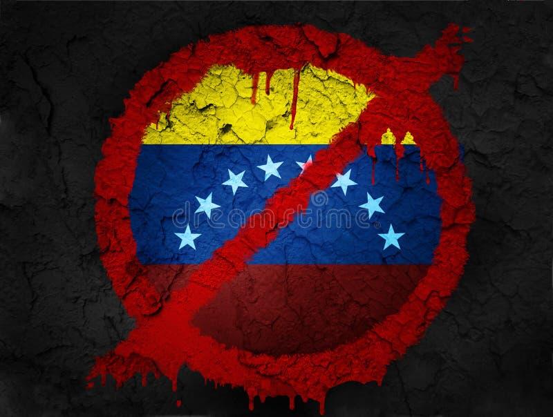 Sanciones contra Venezuela por los Estados Unidos de América imagen de archivo