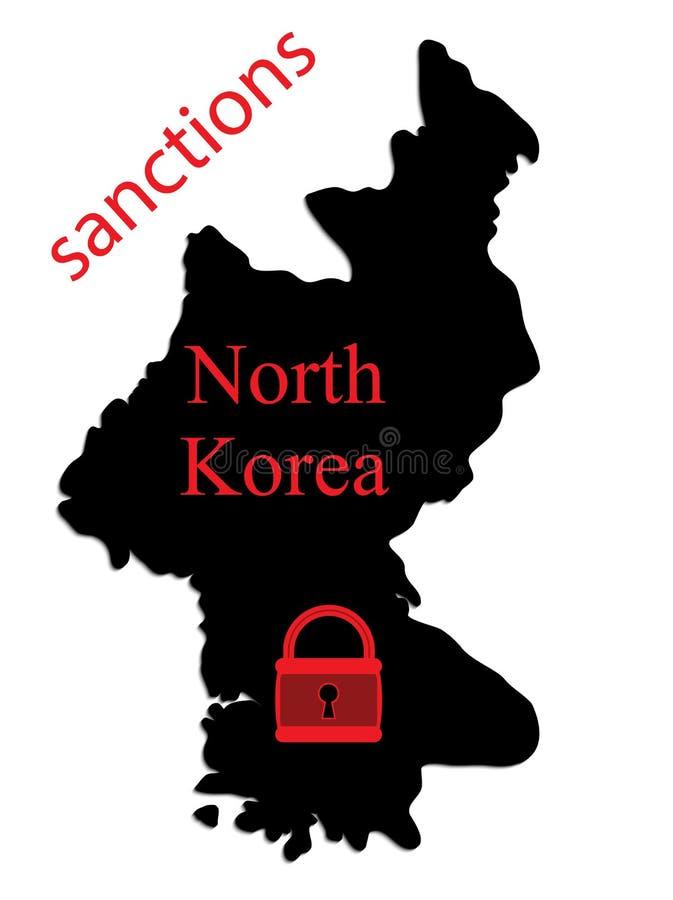 Sanciones de Corea del Norte  ilustración del vector