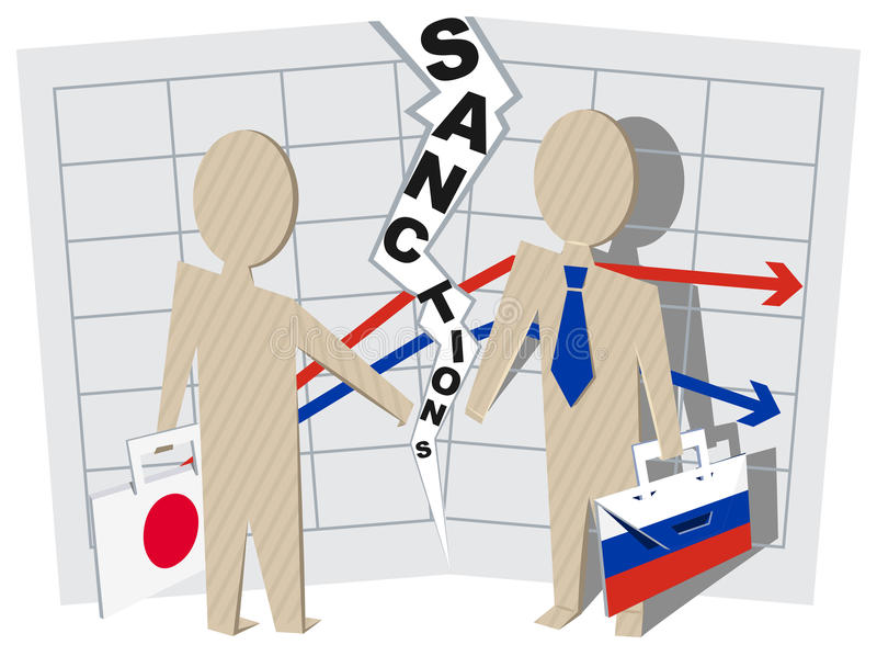 Sanciones de Japón contra el impacto negativo de Rusia en negocio libre illustration
