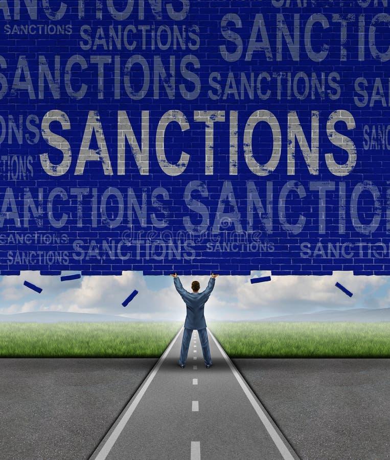 Sanciones de Lfting ilustración del vector