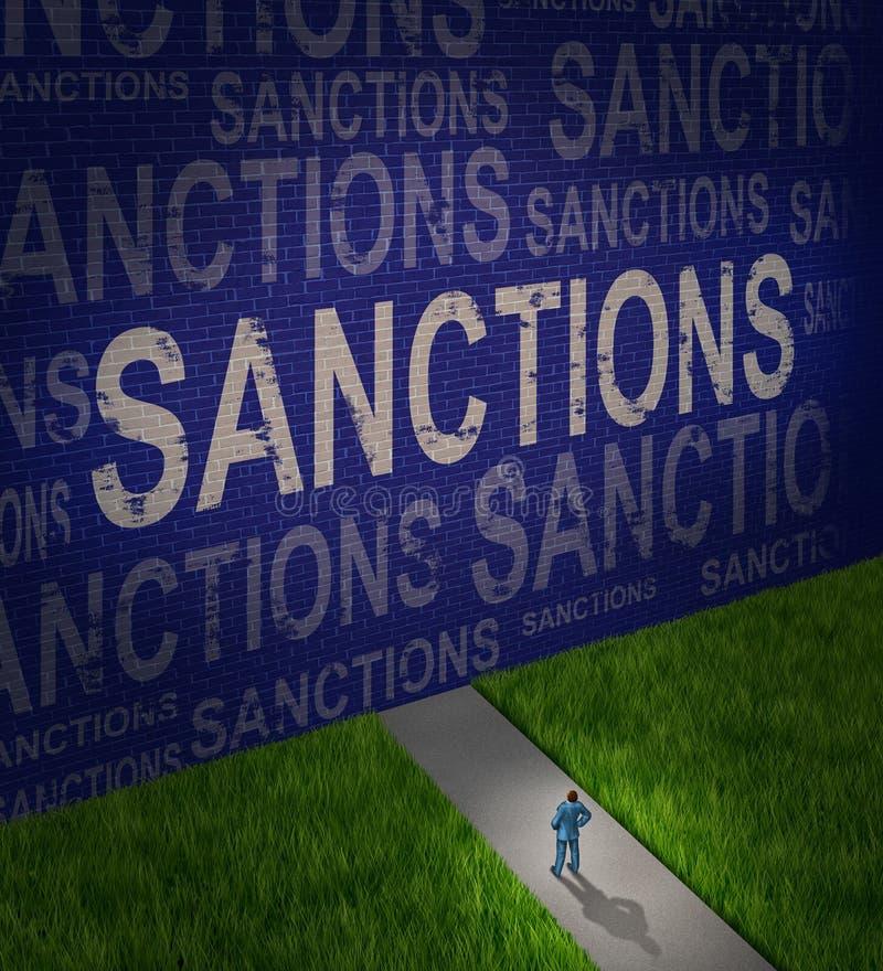 Sanciones económicas ilustración del vector