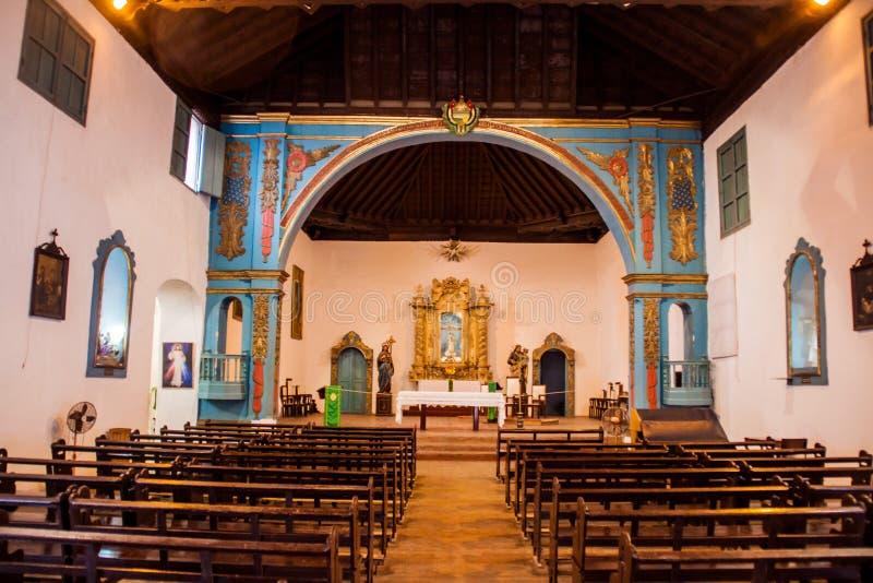 SANCTI SPIRITUS, ΚΟΎΒΑ - 7 ΦΕΒΡΟΥΑΡΊΟΥ 2016: Εσωτερικό της εκκλησίας δημάρχου Parroquial σε Sancti Spiritus, Κούβα Κούβας παλαιότ στοκ φωτογραφία