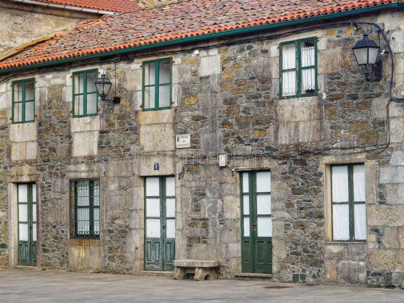 Sancti Spiritus Convent - Melide. Sancti Spiritus Convent of the Third Franciscan Order - Melide, Galicia, Spain, 1 October 2014 stock photo