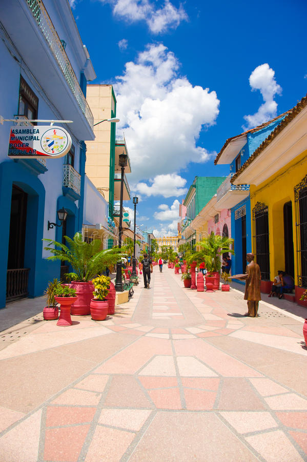 SANCTI SPIRITUS, CUBA - 5 SETTEMBRE 2015: Latino immagine stock