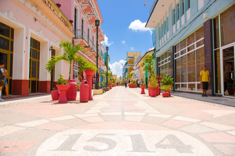 SANCTI SPIRITUS, KUBA - SEPTEMBER 5, 2015: Latin arkivbilder