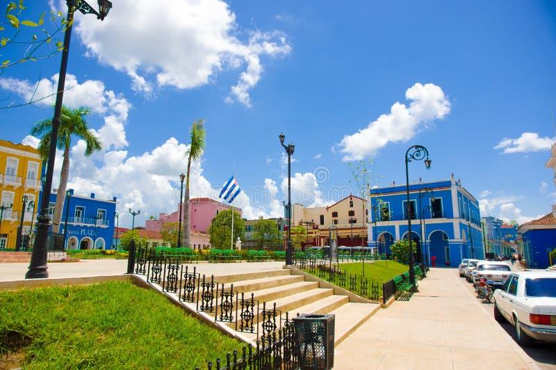 SANCTI SPIRITUS KUBA, WRZESIEŃ, - 5, 2015: Łacina zdjęcie royalty free