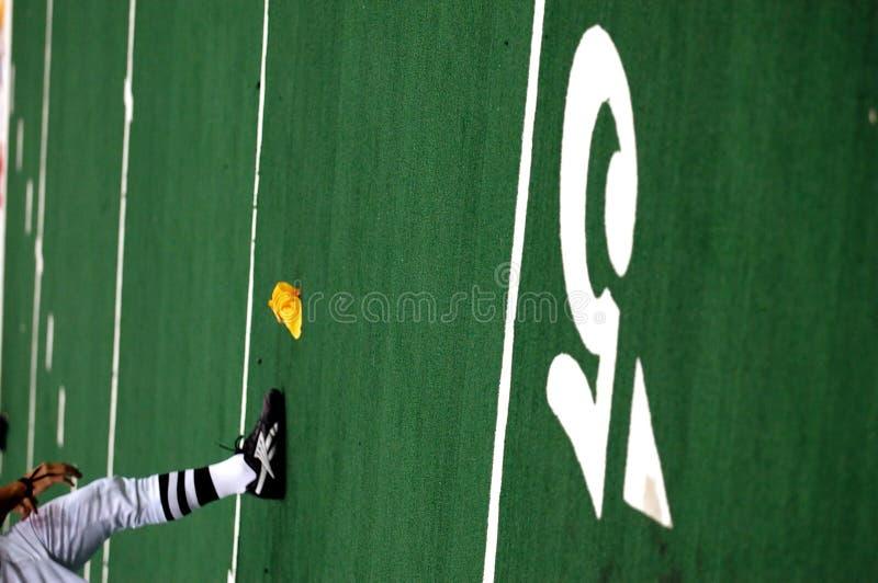 Sanctie op 5 yard lijn stock foto