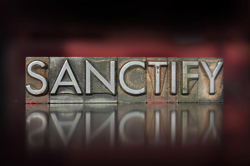 Sanctify Letterpress стоковое фото rf