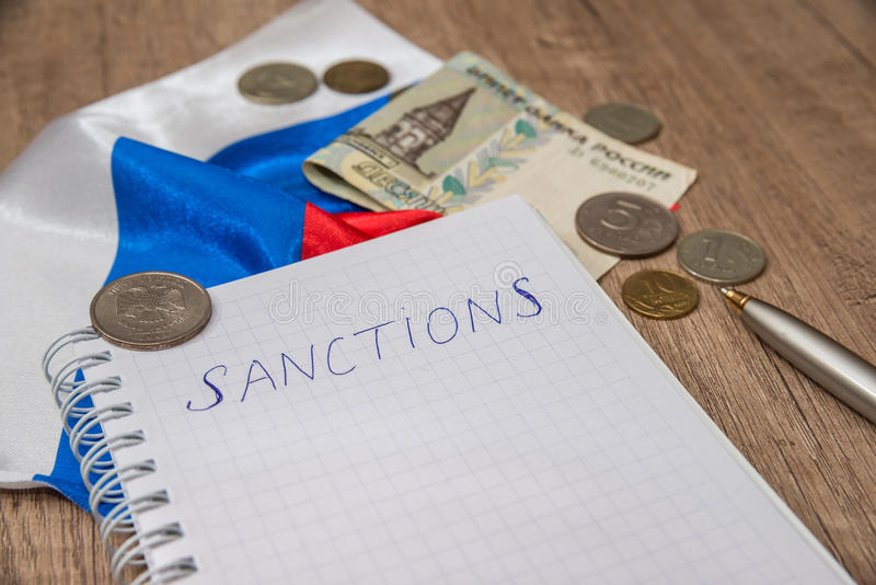 Sanctions for russia royalty free stock images