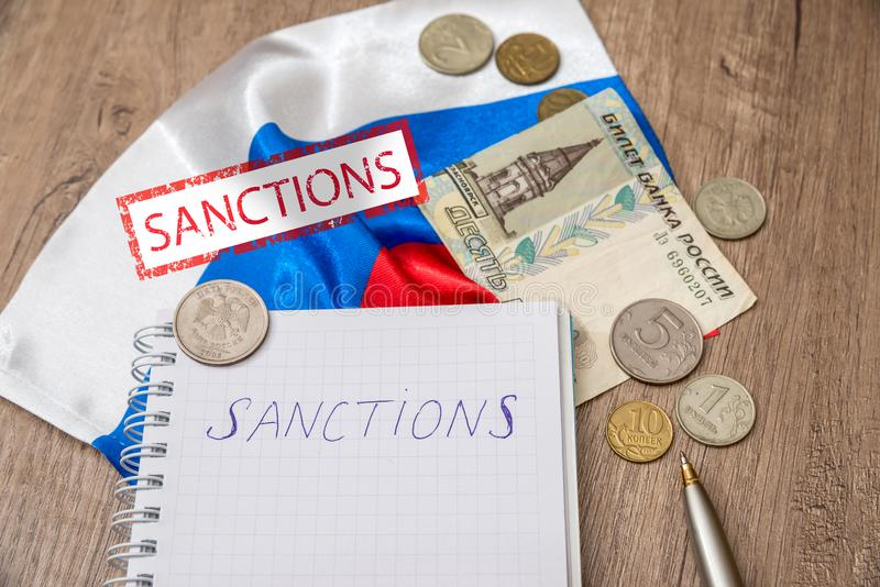 Sanctions of russia stock photos