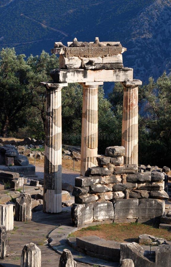 Sanctuaire d'Athéna Pronaia à Delphes, Grèce images libres de droits