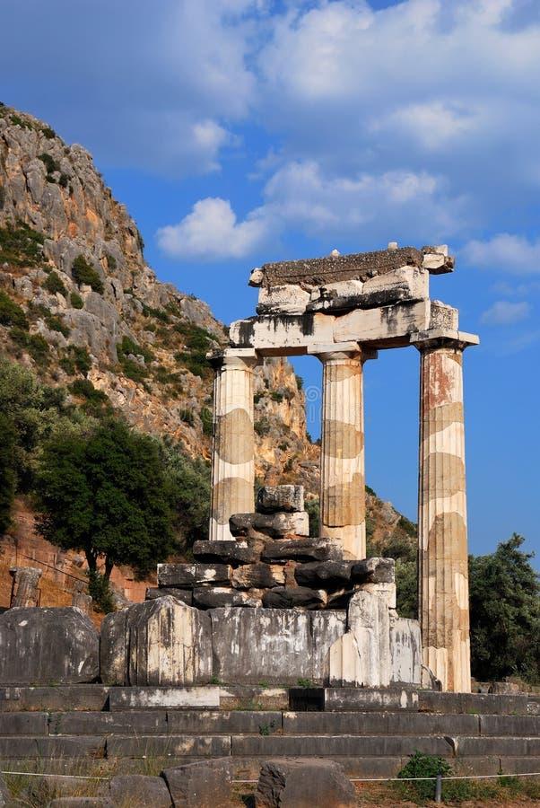 Sanctuaire d'Athéna Pronaia à Delphes, Grèce photo stock