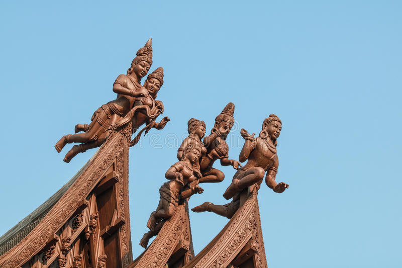 Sanctuaire de la vérité à Pattaya images stock