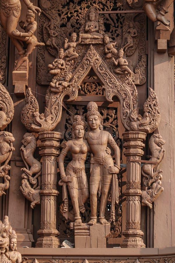 Sanctuaire de la vérité à Pattaya photographie stock libre de droits
