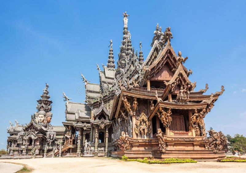 Sanctuaire de la vérité à Pattaya, Thaïlande photographie stock libre de droits