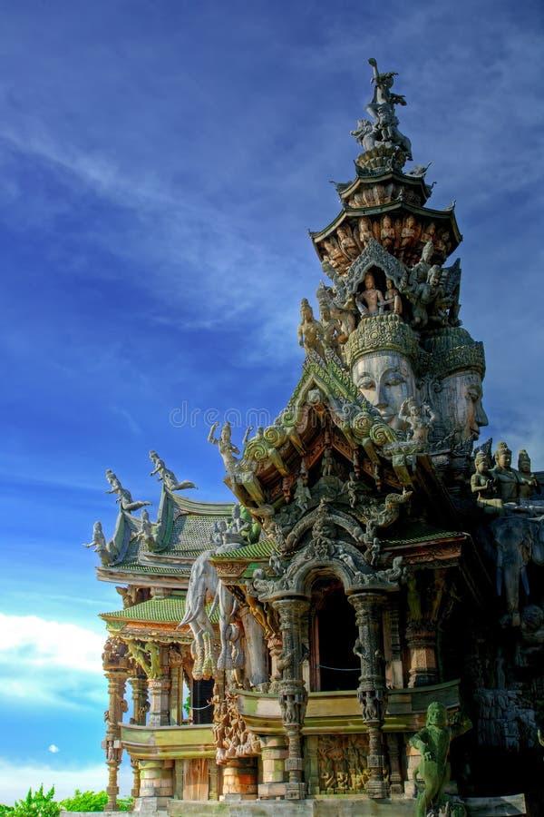Sanctuaire de la vérité Pattaya photographie stock libre de droits