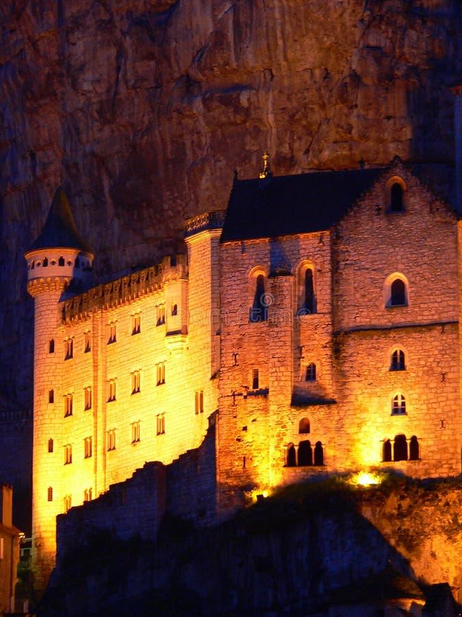 Sanctuaire DE Notre-Dame DE Rocamadour (Frankrijk) stock foto's