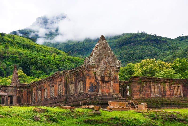 Sanctuaire de pierre de Wat Phu images stock