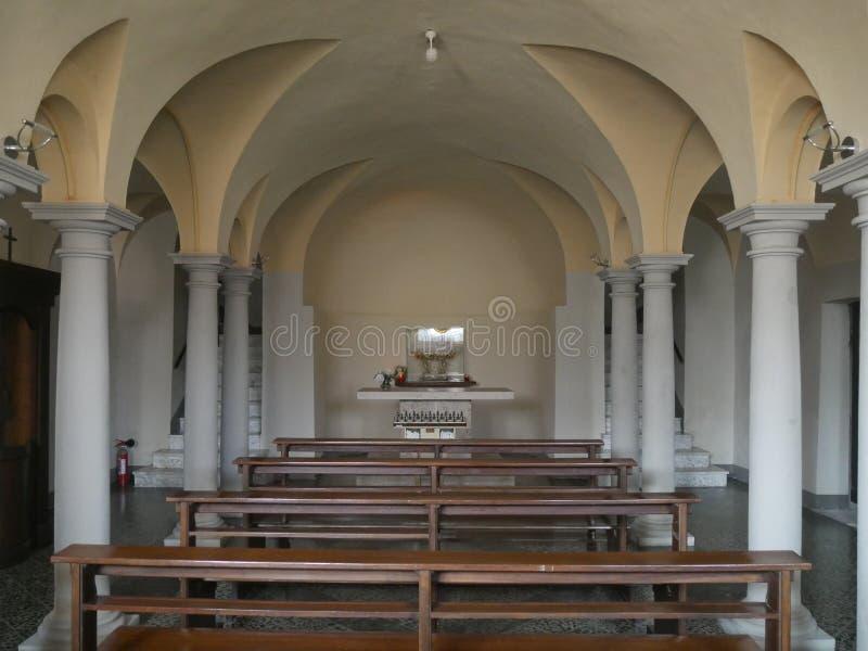 Sanctuaire de Vierge dans Bobbio images libres de droits