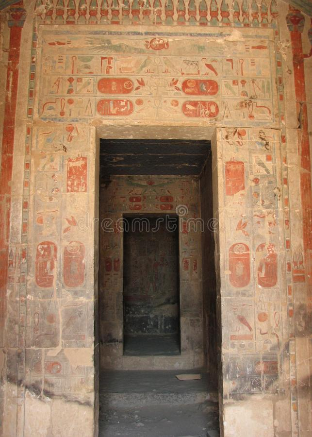 The Sanctuary of Amon, Temple of Hatshepsut, Egypt royalty free stock image