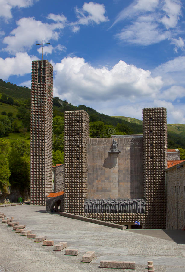 The Sanctuary of Arantzazu is a Franciscan sanctuary located in Oñati, Basque Country. The Sanctuary of Arantzazu is a Franciscan sanctuary located in Oñ stock image