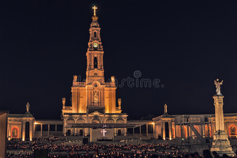 Sanctuary of Fatima, altar of the Catholic world royalty free stock photos