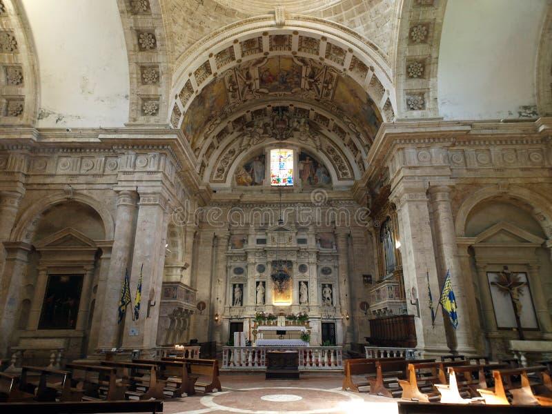 The Sanctuary Of The Madonna Di San Biagio, Montepulciano. Tuscany,Italy royalty free stock photos