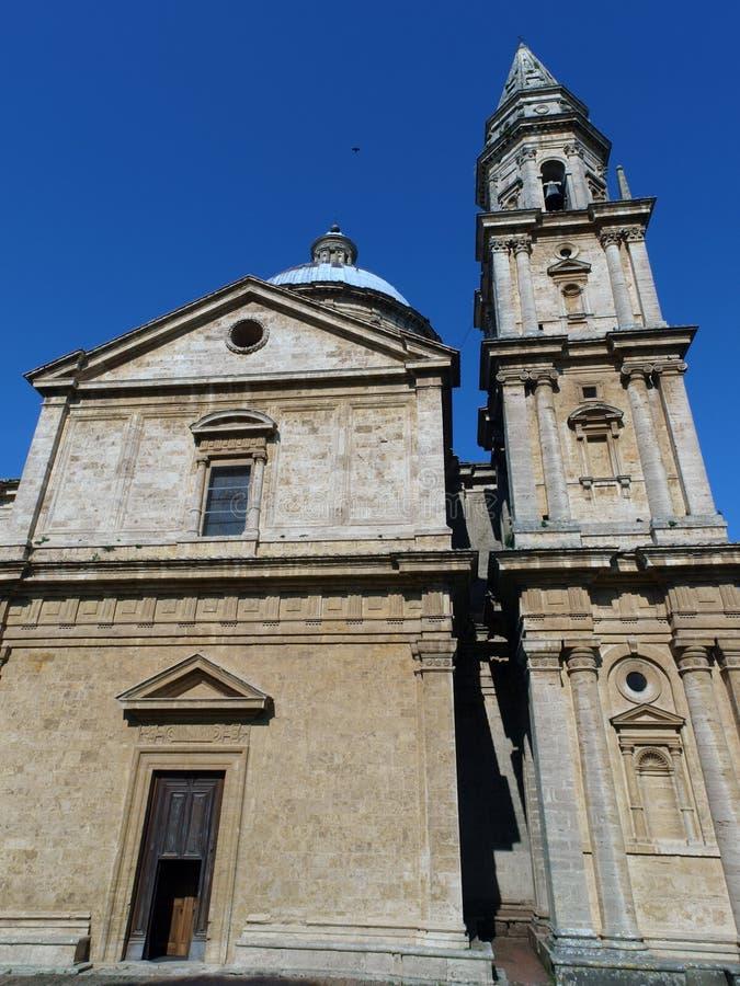 The Sanctuary Of The Madonna Di San Biagio, Montepulciano. Tuscany,Italy stock photo