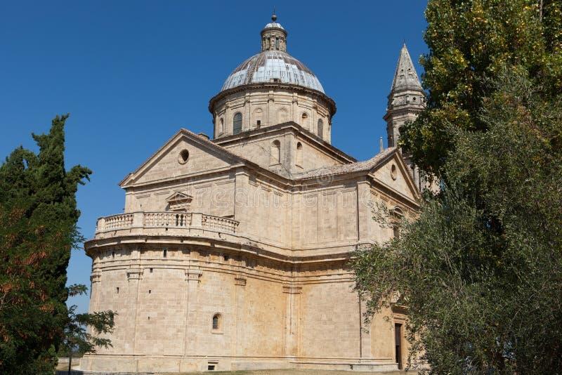 The Sanctuary Of The Madonna Di San Biagio, Montepulciano. Tuscany, Italy royalty free stock photos