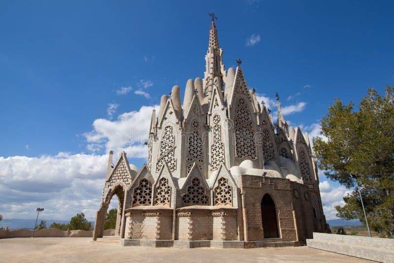 Sanctuary of Montserrat. Sanctuary of Mare de Deu de Montserrat, a modernist shrine by Josep Maria Jujol in Montferri, Catalonia royalty free stock image