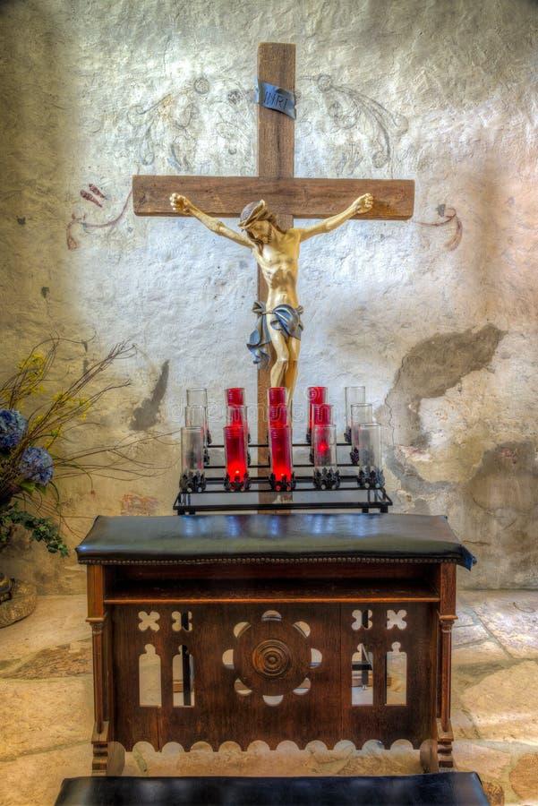 Sanctuary at Mission Concepcion, San Antonio, TX stock photography