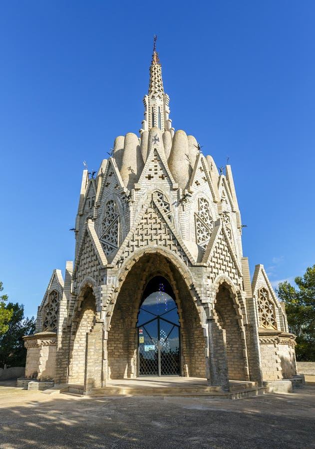 Sanctuary of Montserrat in Montferri, Tarragona, Catalonia. Sanctuary of Montserrat in Montferri Alt Camp, Tarragona province, Catalonia, Spain. By modernist royalty free stock images