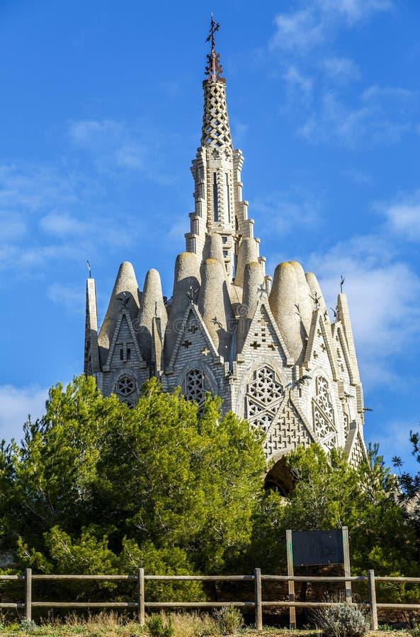 Sanctuary of Montserrat in Montferri, Tarragona, Catalonia. Sanctuary of Montserrat in Montferri Alt Camp, Tarragona province, Catalonia, Spain. By modernist stock image