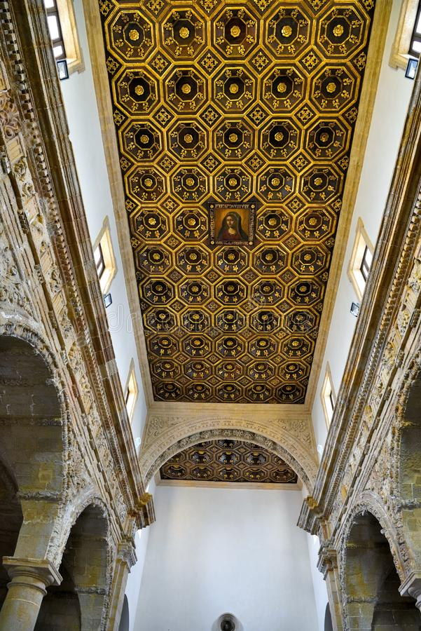 Gallipoli Salento Italy. Sanctuary of Santa Maria del canneto baroque style completed in the mid seventeenth century - May 3 2018 Gallipoli Salento Italy stock photography