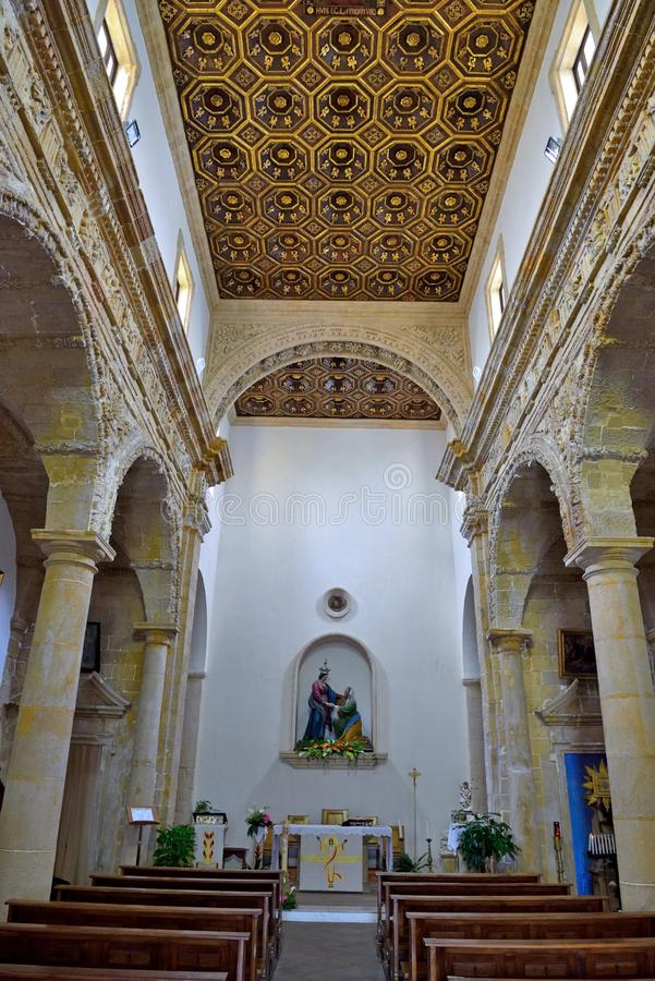 Gallipoli Salento Italy. Sanctuary of Santa Maria del canneto baroque style completed in the mid seventeenth century - May 3 2018 Gallipoli Salento Italy royalty free stock photography