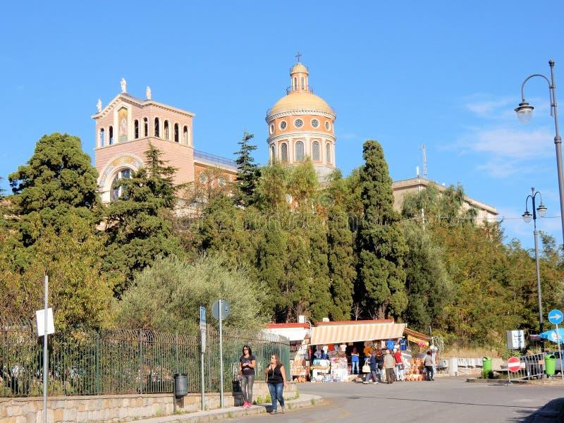 Sanctuary of Tindari - pilgrimage - Sicily - Italy stock photo