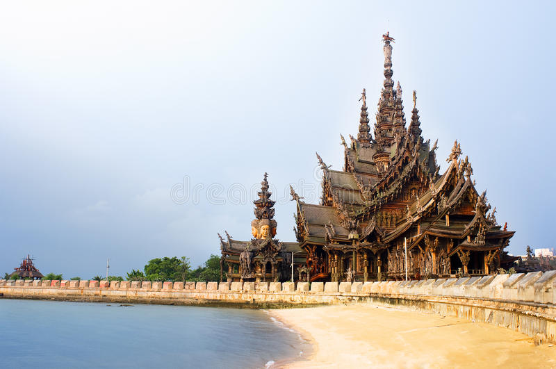 Download Sanctuary of Truth stock photo. Image of thailand, beach - 23316484