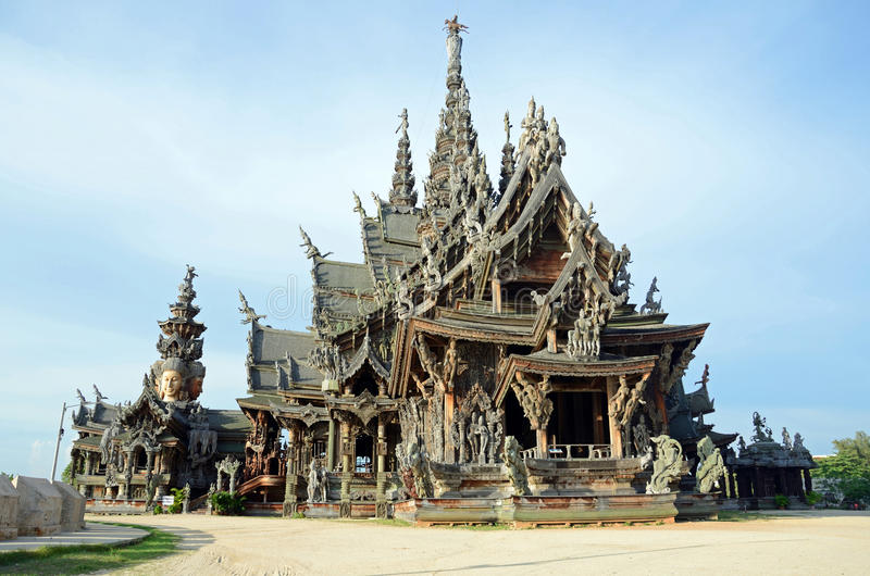 Download The Sanctuary of Truth stock photo. Image of pattaya - 24747658