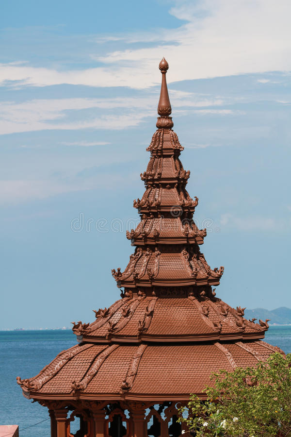 Sanctuary of Truth in Pattaya stock photography