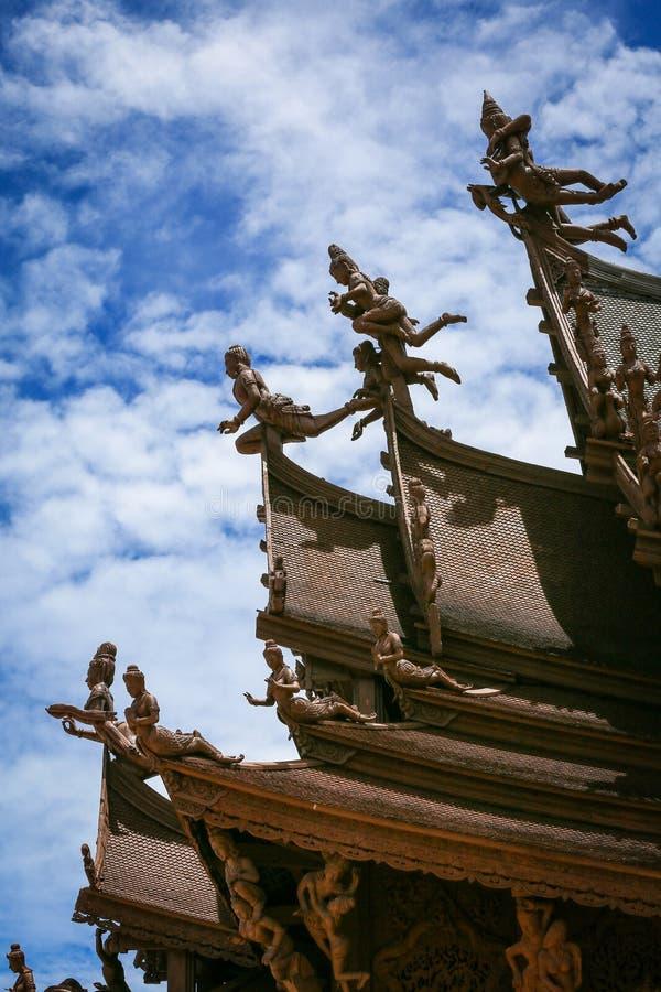 Sanctuary of Truth in Pattaya stock photo