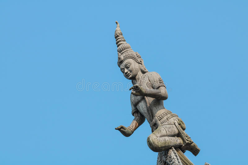 Sanctuary of Truth in Pattaya royalty free stock photo