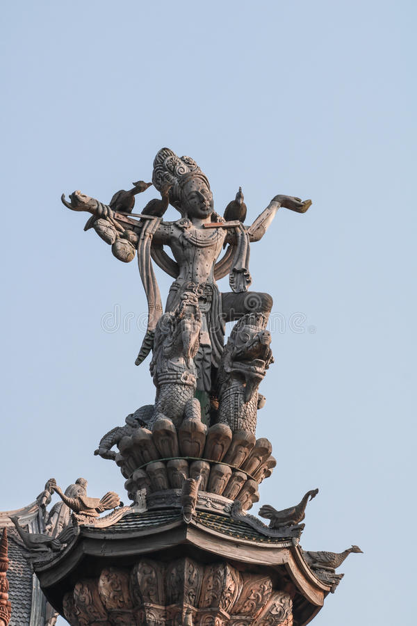 Sanctuary of Truth in Pattaya stock image