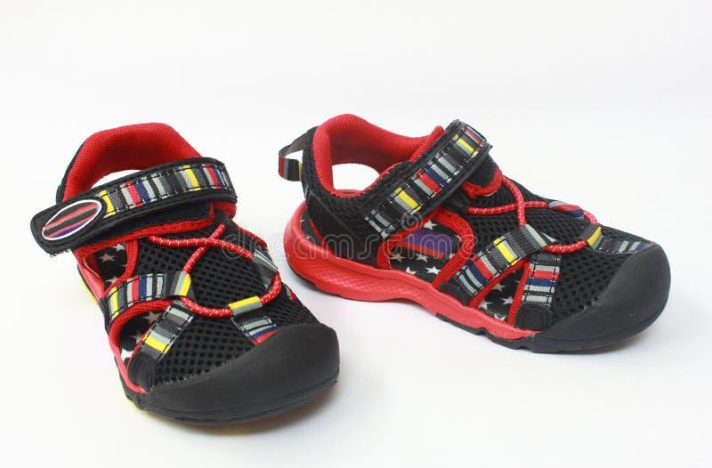 Sandália do verão do miúdo foto de stock