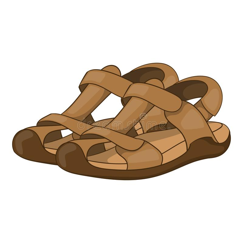 Sandálias ícone, estilo dos desenhos animados ilustração do vetor