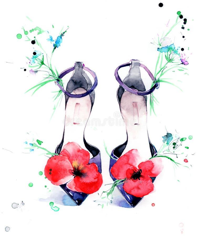 Sandálias ilustração stock