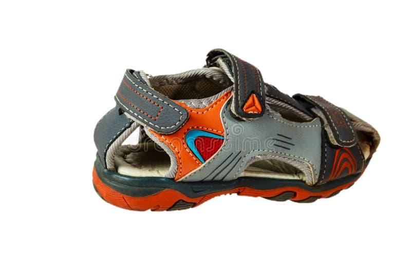 Sandálias bonitos do bebê imagem de stock