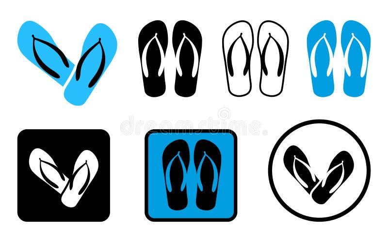 Sandálias da praia Ilustração do vetor ilustração stock