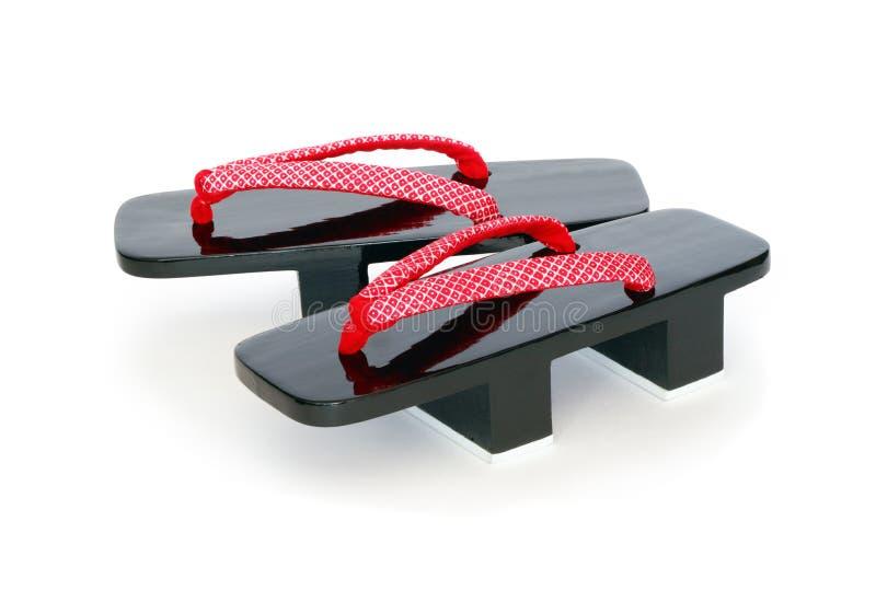 Sandálias japonesas do Geta fotografia de stock royalty free